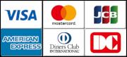 VISA,Master Card,JCB,AMEX,Diners Club,DC